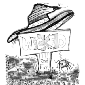 Wicked witch coloring page for kids for the Halloween coloring page series