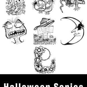Halloween coloring pages for kids and adults complete series